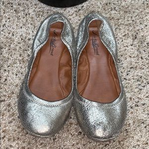 Lucky Brand Pewter Flats - Size 7